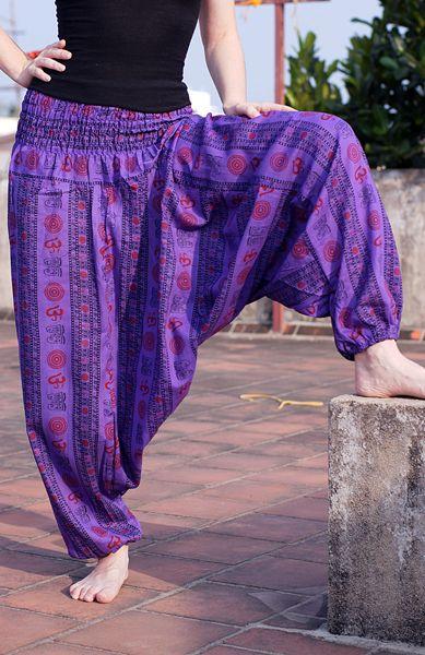 Штаны афгани с омчиками разных цветов (отправка из Индии)