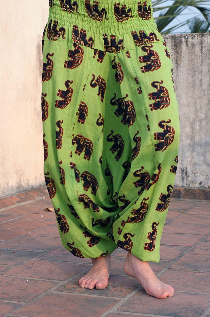 Разные цвета! Индийские штаны со слонами (отправка из Индии)