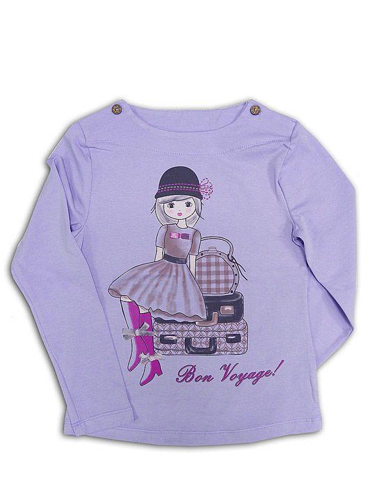 Блуза для девочки В путешествие