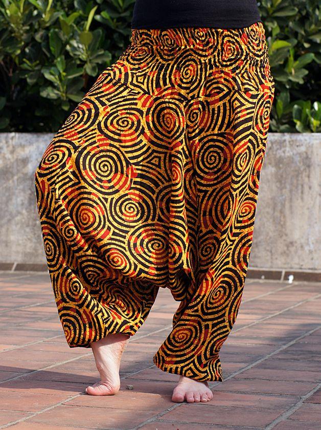 Разные цвета! Женские штаны алладины со спиральками (отправка из Индии)