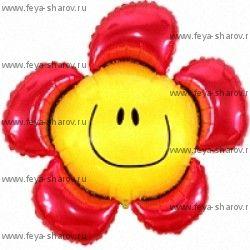 Шар фольгированный Цветочная улыбка