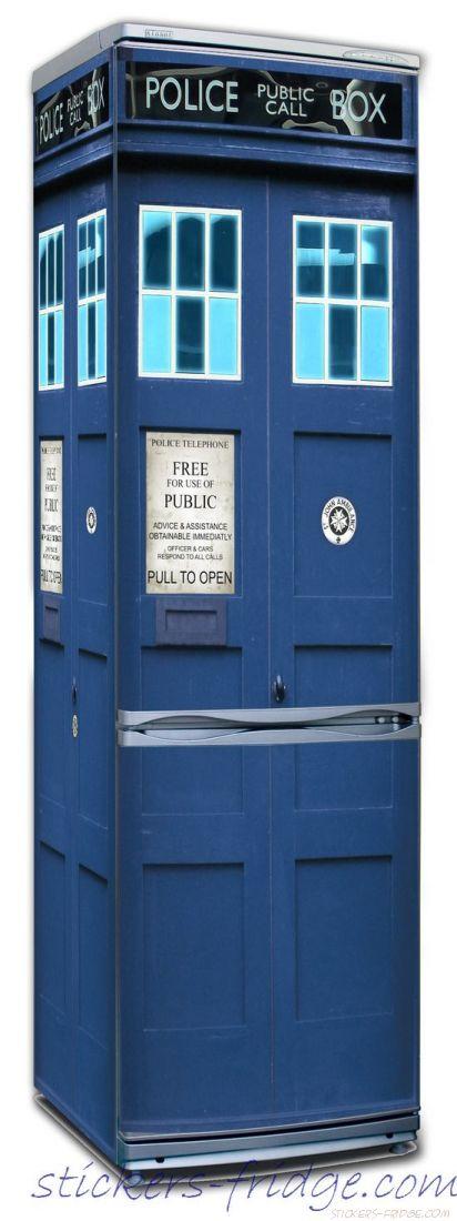 Наклейка на холодильник - Police Box