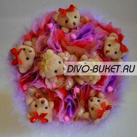 """Букет из игрушек №071-7 """"Азалия"""""""