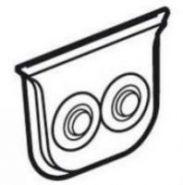 Мембранный сальник Plexo 2-ввода до 16мм белый (арт.69649)
