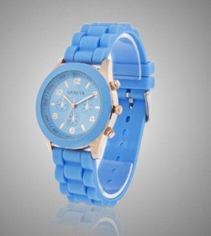 Синие наручные часы Geneva