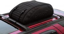 Бокс-сумка мягкая на крышу автомобиля - размер М (225 литров 110x70x35см) черная