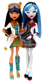 Игровой набор Гулия Йелпс (Ghoulia Yelps) и Клео де Нил (Cleo de Nile), серия В классе, MONSTER HIGH