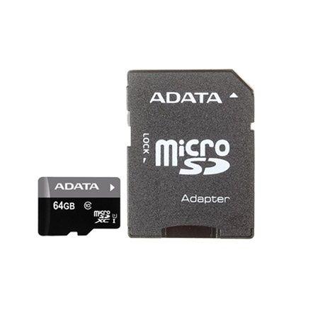 64GB карта памяти Premier MicroSDHC UHS-I Class 10 ADATA 40/15 MB/s с адаптером