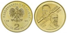 Генрик Сенкевич. 1846-1916 2 злотых 1996
