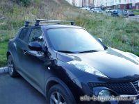 Багажник на крышy Nissan Juke, Атлант, аэродинамические дуги, опора E