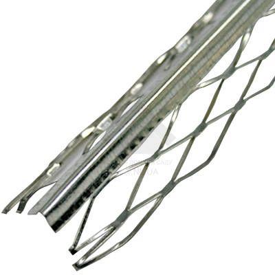 Профиль угловой оцинкованный сеткой, 3 м