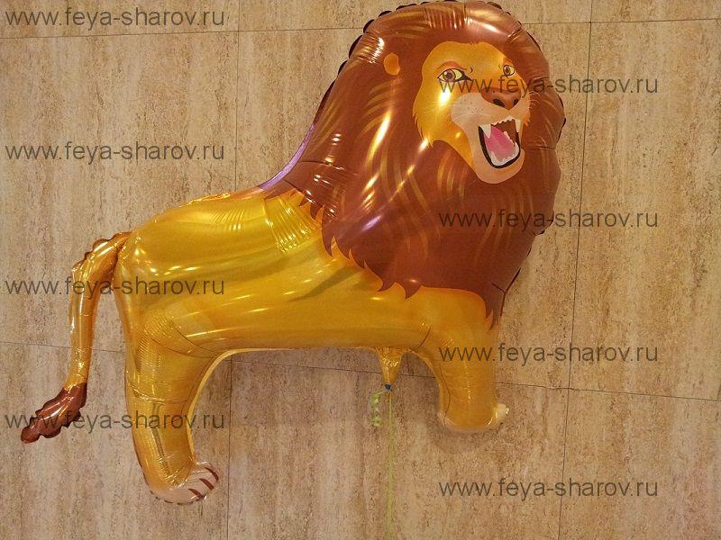 Шар фольгированный Лев 81 см