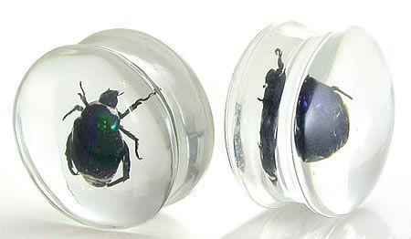 Плаги - Акрил. Зеленый жук