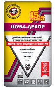 ЮНИС ШУБА ДЕКОР - штукатурка декоративная (25 кг)