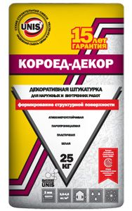 ЮНИС КОРОЕД ДЕКОР - штукатурка декоративная (25 кг)