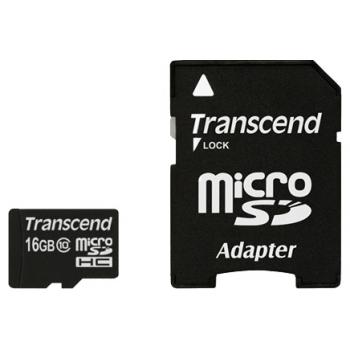 16GB Карта памяти MicroSDHC Class10 Transcend