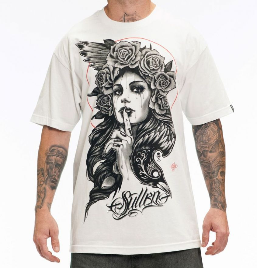 THE RAVEN Sullen White Tee Shirt