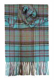 шарф 100% драгоценный кашемир , расцветка  клан Андерсон (древний вариант)