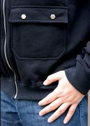 толстовка с накладными карманами на кнопках