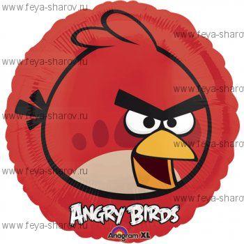 Шар Angry birds 46 см Красный