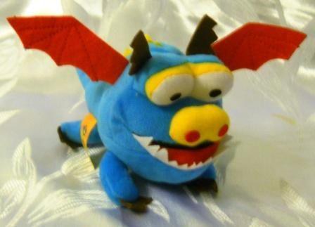 Дракончик Зубастик (голубой)