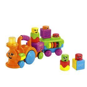 Кубики-блоки Веселый паровозик, FISHER-PRICE