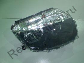 Фара передняя правая (черная маска) Duster DEPO 551-1186R-LD-EM2 аналог 260101891R