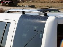 Рейлинги на крышу, Voyager, отполированый алюминий (эффект хрома), к-кт