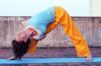 оранжевые женские штаны для занятий йогой