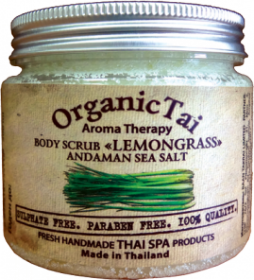 Скраб для тела на основе соли Андаманского моря «ЛЕМОНГРАСС» Organic Tai (Органик Тай)