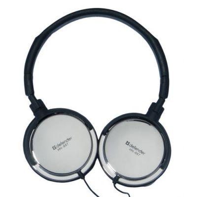 Наушники с микрофоном HN-887S для ПК, серебро, рег.зв., 2 м