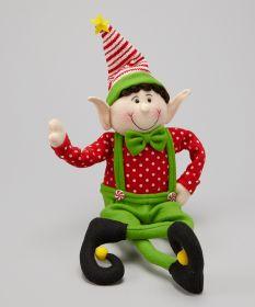 Фигурка декоративная Эльф в зеленых подтяжках