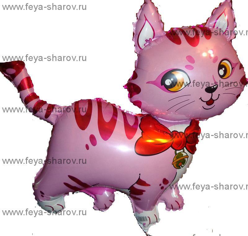 Шар Котенок розовый 81 см