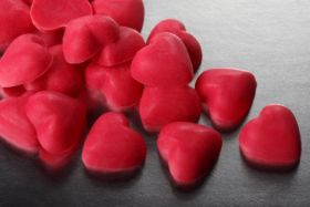 Глазурь СЕРДЕЧКИ КРАСНЫЕ шоколадные 50г