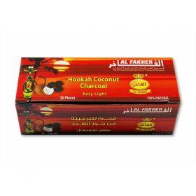 Уголь для кальяна кокосовый - Al Fakher - 30 кубиков
