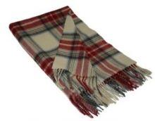Легкий плед, 100 % стопроцентная шотландская овечья шерсть, расцветка Королевский клан Стюарт Вечерний STEWART EVE