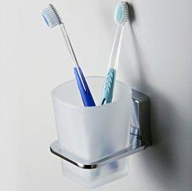 Стакан для зубных щеток стеклянный wasserkraft Серия Leine К-5000