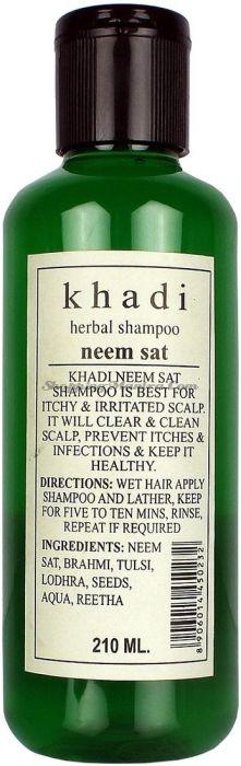 Шампунь против перхоти и раздражения кожи головы Кхади Ним Сат / Khadi Herbal Neem Sat Shampoo