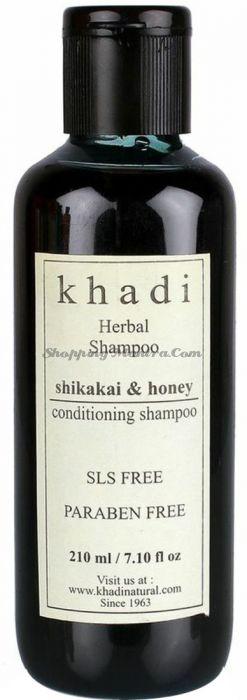Питательный шампунь Шикакай&Мед Кхади без парабенов и SLS /Khadi Shikakai&Honey Shampoo SLS Paraben Free