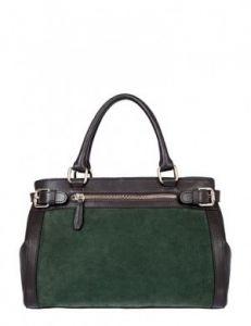 Зелёная замшевая сумка