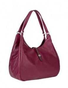 Бордовая сумка-мешок