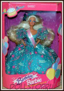 коллекционная кукла Барби С Днем Рождения - Birthday Barbie Doll in Blue Dress /Happy Birthday Sash 1993