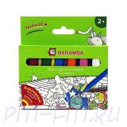 Baramba. Карандаши восковые треугольные, 13 цветов в картонной коробке