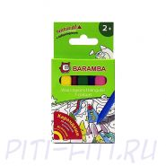 Baramba. Карандаши восковые треугольные, 7 цветов в картонной коробке