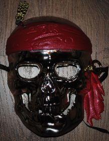 """Маска """"Пиратский череп серебряный"""""""