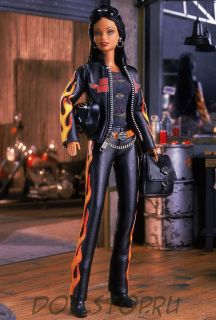 Коллекционная кукла Барби Харлей Дэвидсон Оранжевое пламя  - Harley-Davidson Barbie Doll