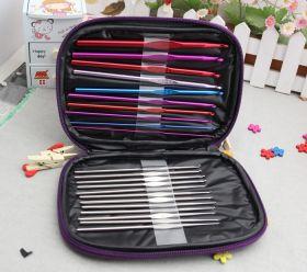 Набор крючков для вязания в удобном чехле (22 шт)