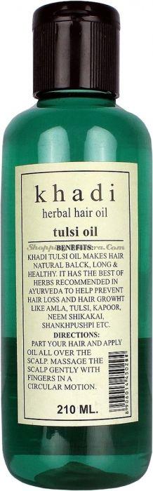 Оздоровительное масло для волос Тулси Кхади / Khadi Herbal Tulsi Hair Oil