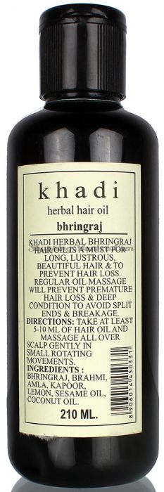 Оздоровительное масло для волос Кхади Бринградж / Khadi Herbal Bhringraj Hair Oil