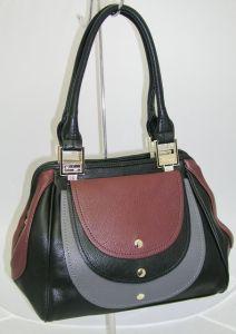 Чёрно-бордовая сумка